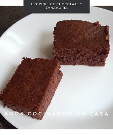 Receta de Brownie de Chocolate y Zanahoria
