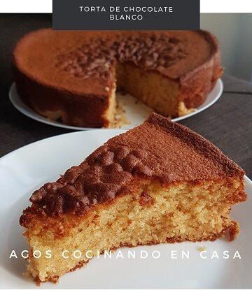 torta de chocolate blanco