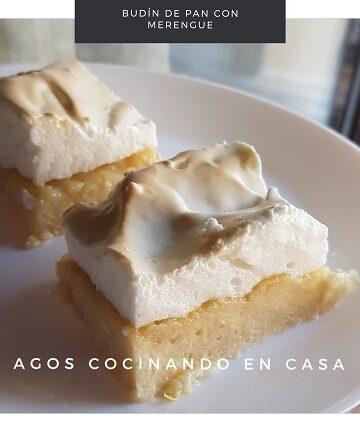 Budín de pan con merengue