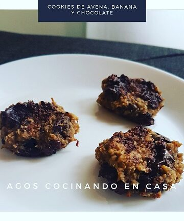 Receta de cookies de avena, banana y chocolate
