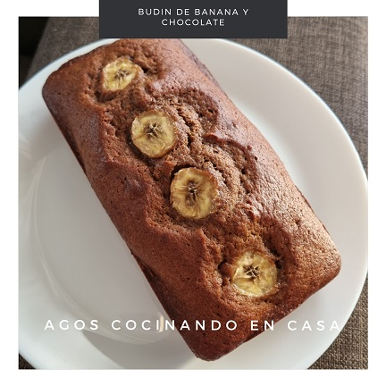 Budín de Banana y Chocolate